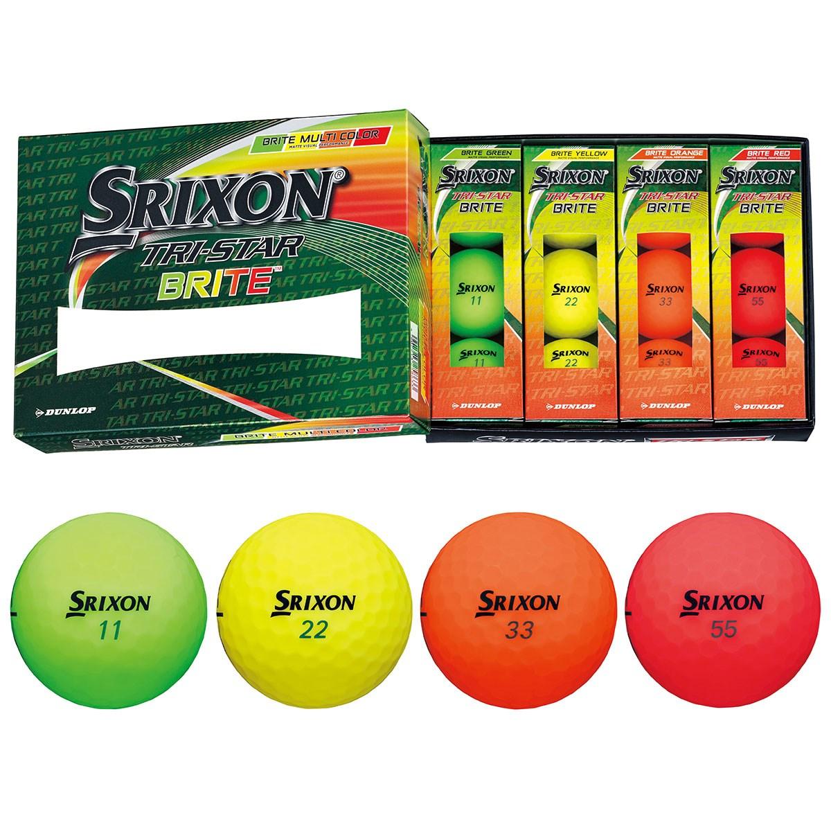 ダンロップ SRIXON スリクソン TRI-STAR 3 BRITE ボール 1ダース(12個入り) マルチカラー