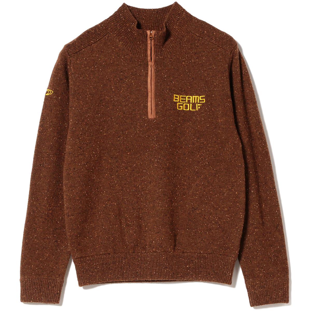 BEAMS GOLF ORANGE LABEL カラー ネップ プルオーバー セーター
