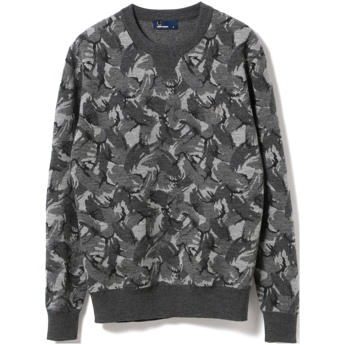 FRED PERRY ×BEAMS GOLF 防風 イングランドカモ セーター