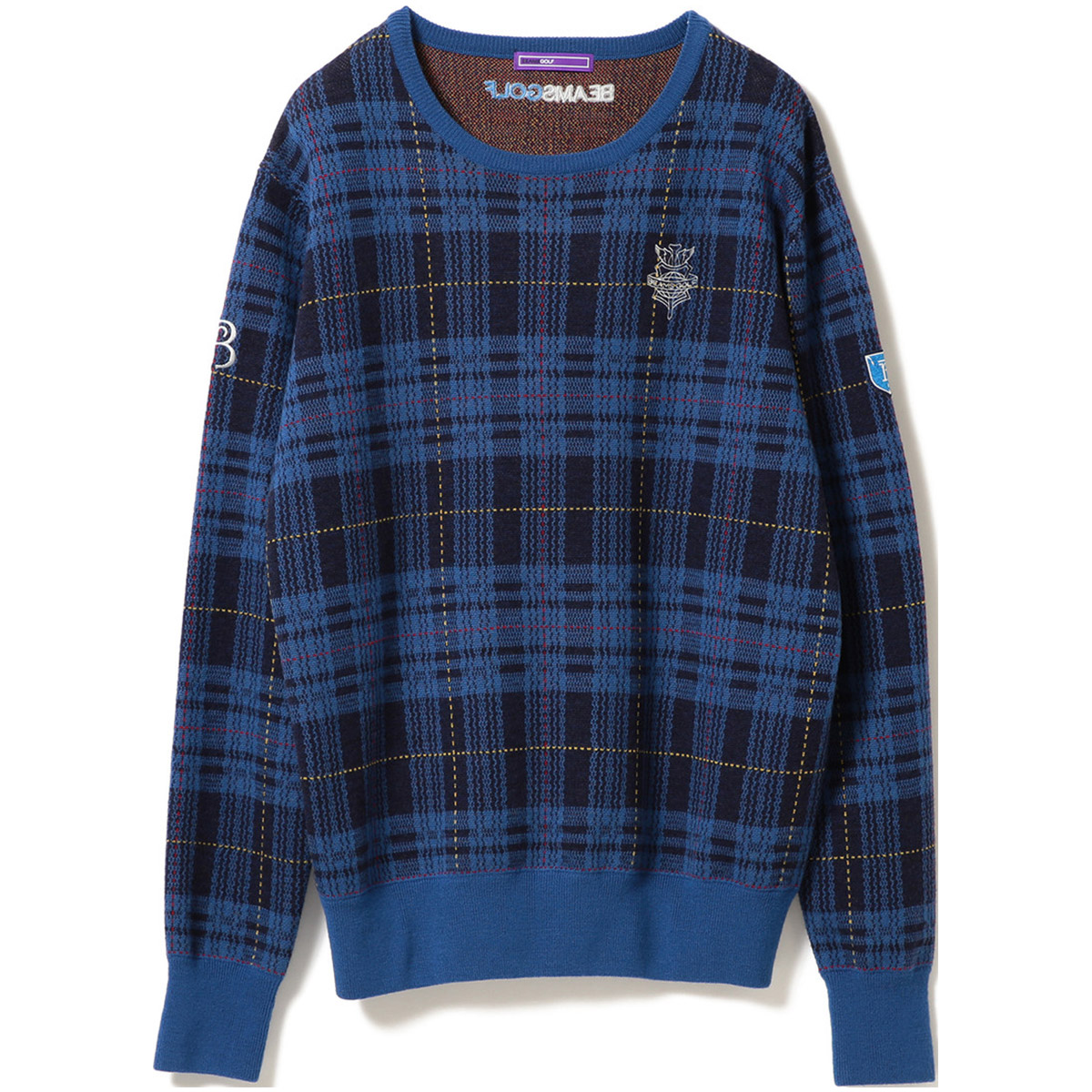 BEAMS GOLF PURPLE LABEL RETURN BRITISH チェック セーター