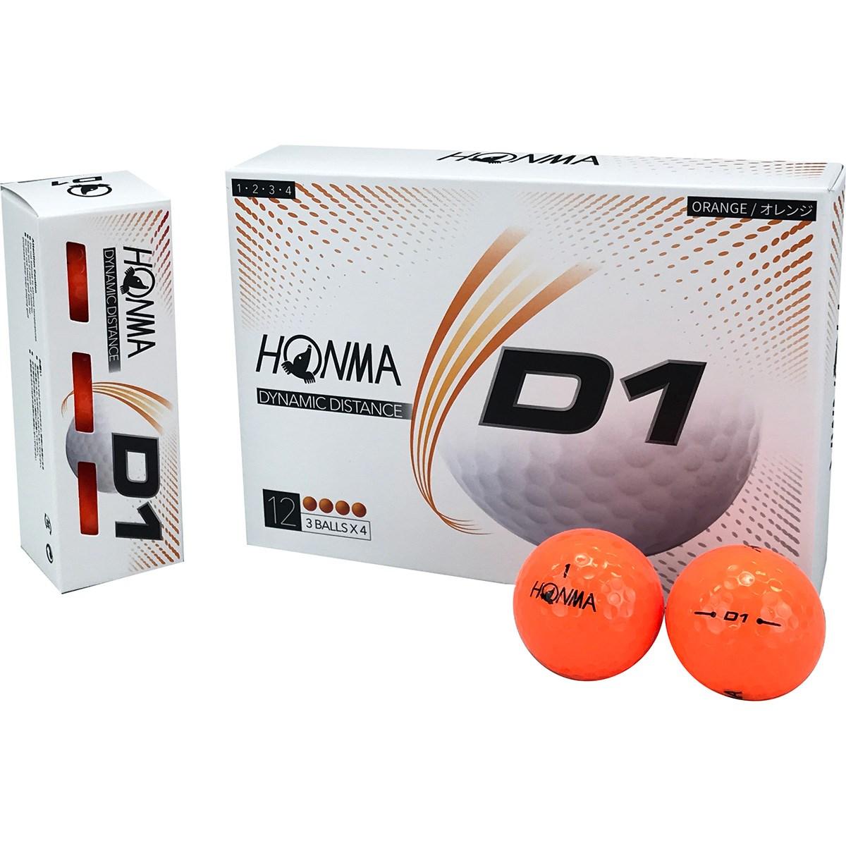 本間ゴルフ HONMA D1 ボール 2020年モデル 1ダース(12個入り) オレンジ