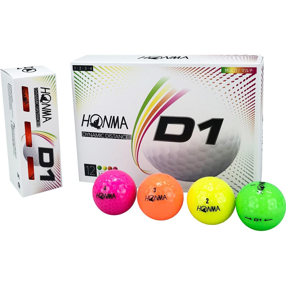 本間ゴルフ HONMA D1 ボール 2020年モデル 1ダース(12個入り) マルチ