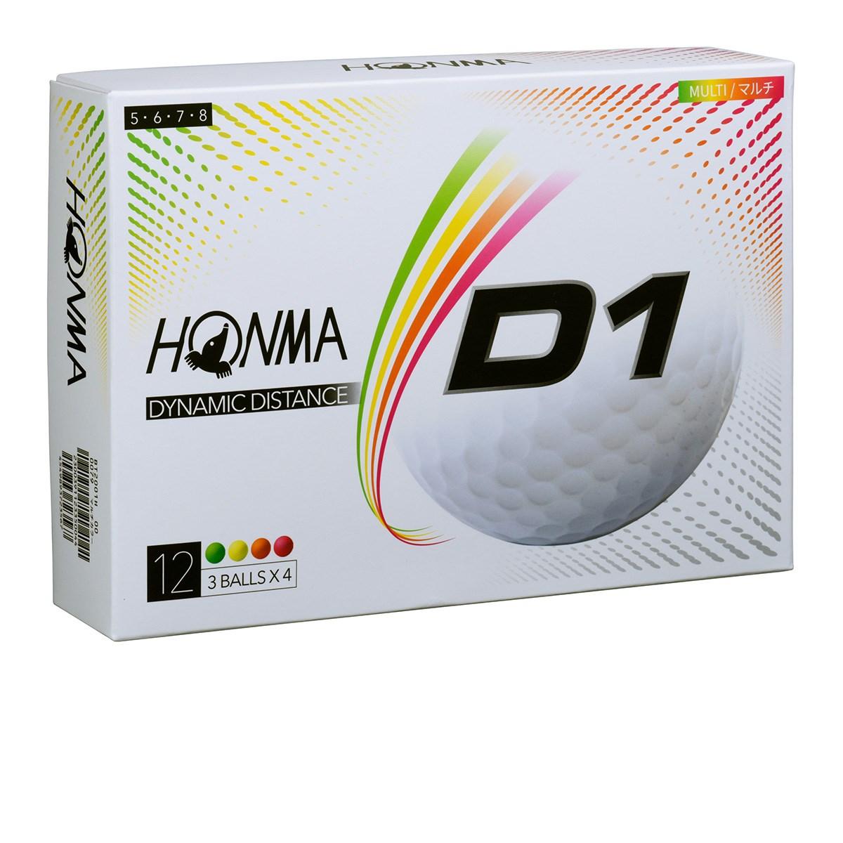 本間ゴルフ HONMA D1 ボール 2020年モデル 1ダース(12個入り) マルチ(ハイナンバー)