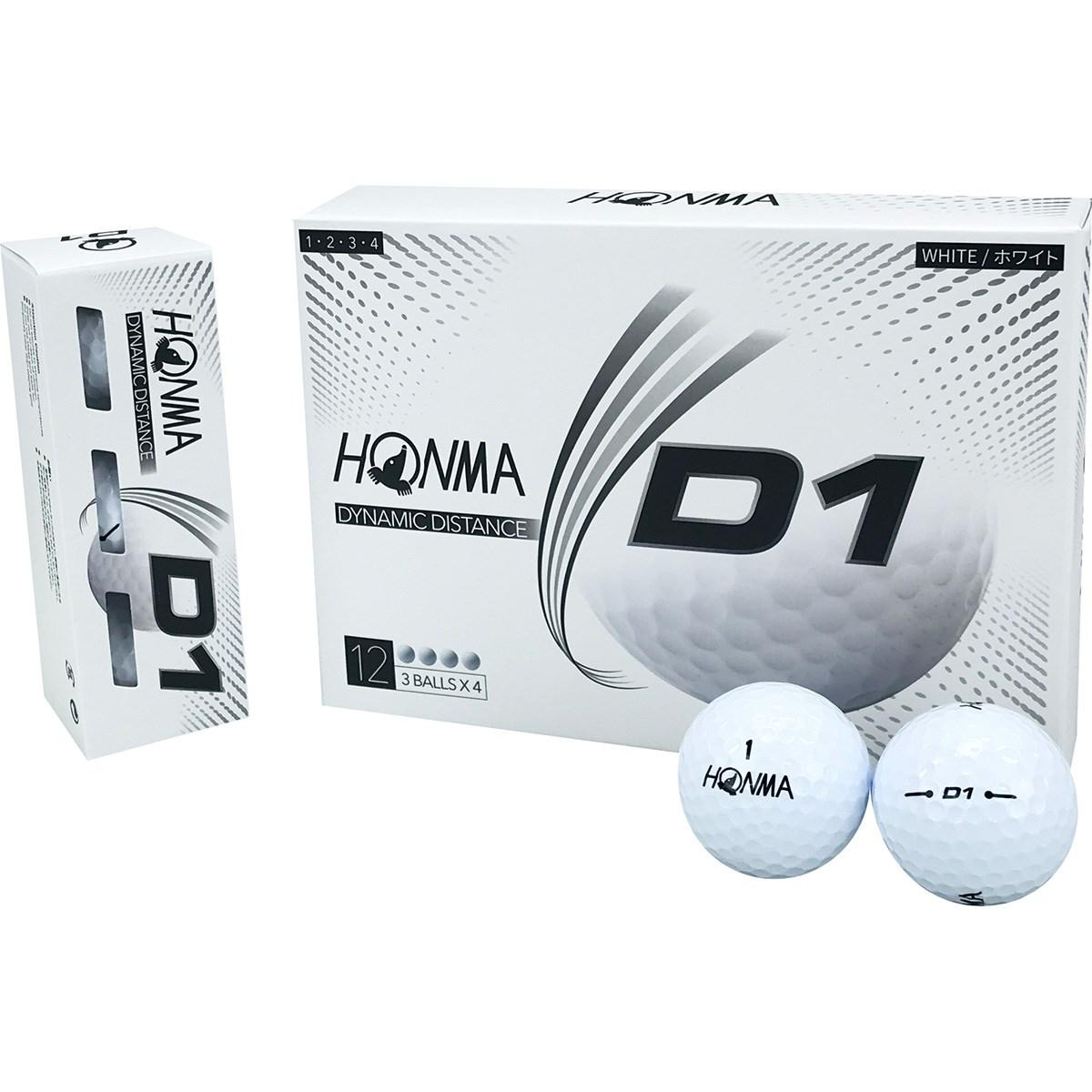 本間ゴルフ HONMA D1 ボール 2020年モデル 1ダース(12個入り) ホワイト
