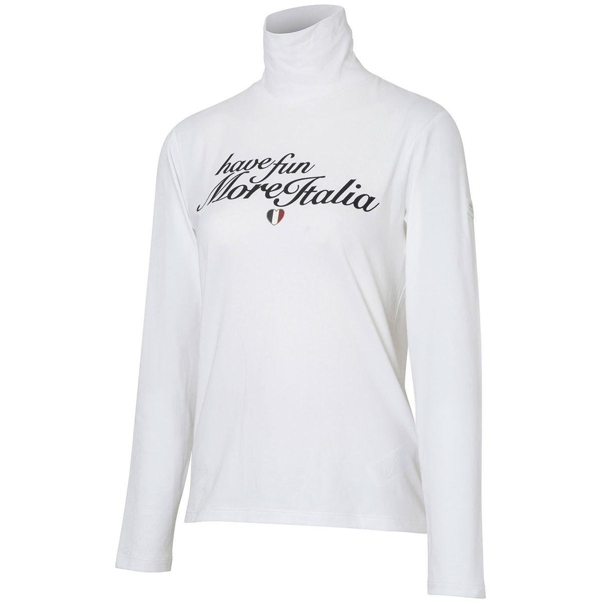 カッパ Kappa Kappa GOLF 胸レタリング ストレッチハイネック長袖シャツ S ホワイト レディス