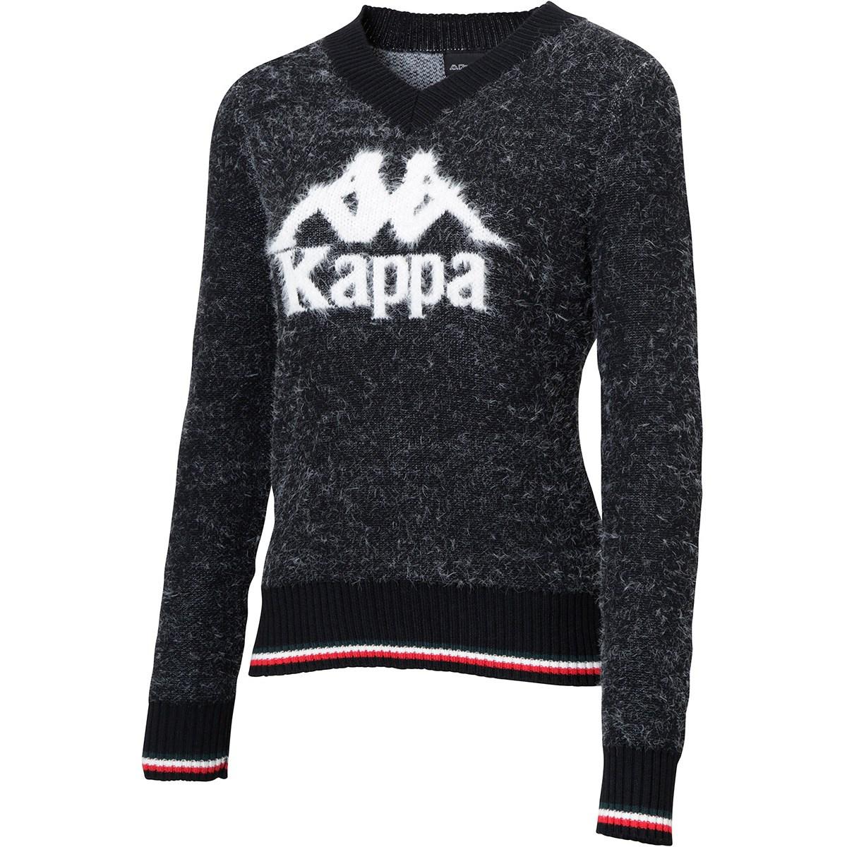 カッパ Kappa Kappa GOLF BIGオミニVネックセーター M ブラック レディス