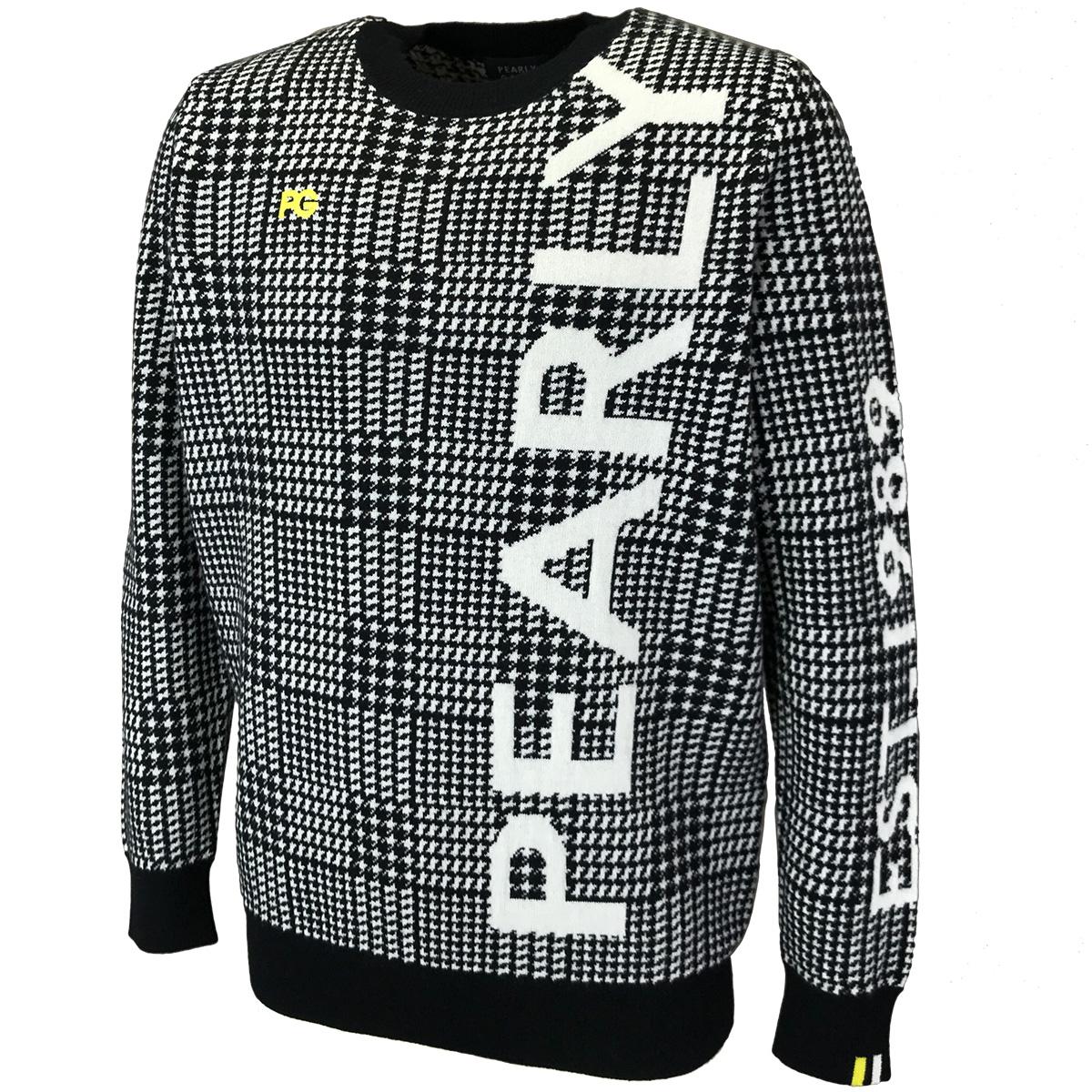 カシミヤ グレンチェック長袖セーター