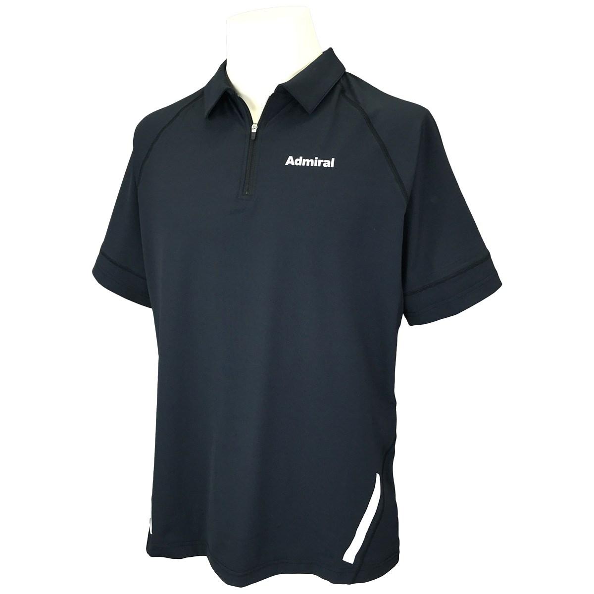 アドミラル ジップ半袖ポロシャツ