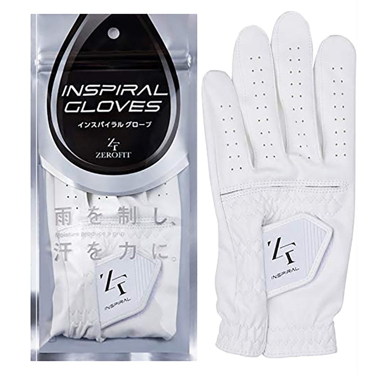 イオンスポーツ ZERO FIT インスパイラル ゴルフ グローブ 21cm 左手着用(右利き用) ホワイト