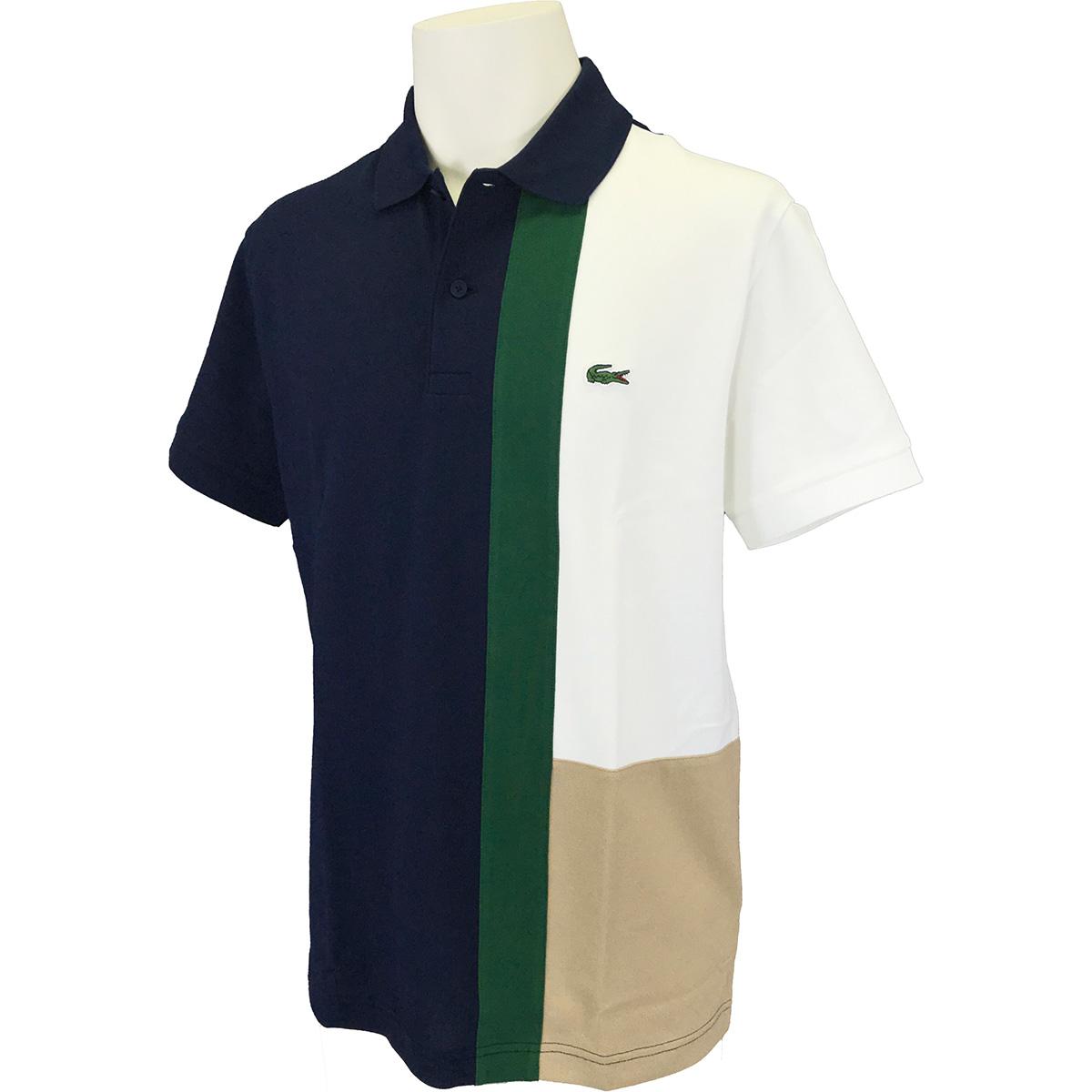 フロントパネル配色 半袖ポロシャツ