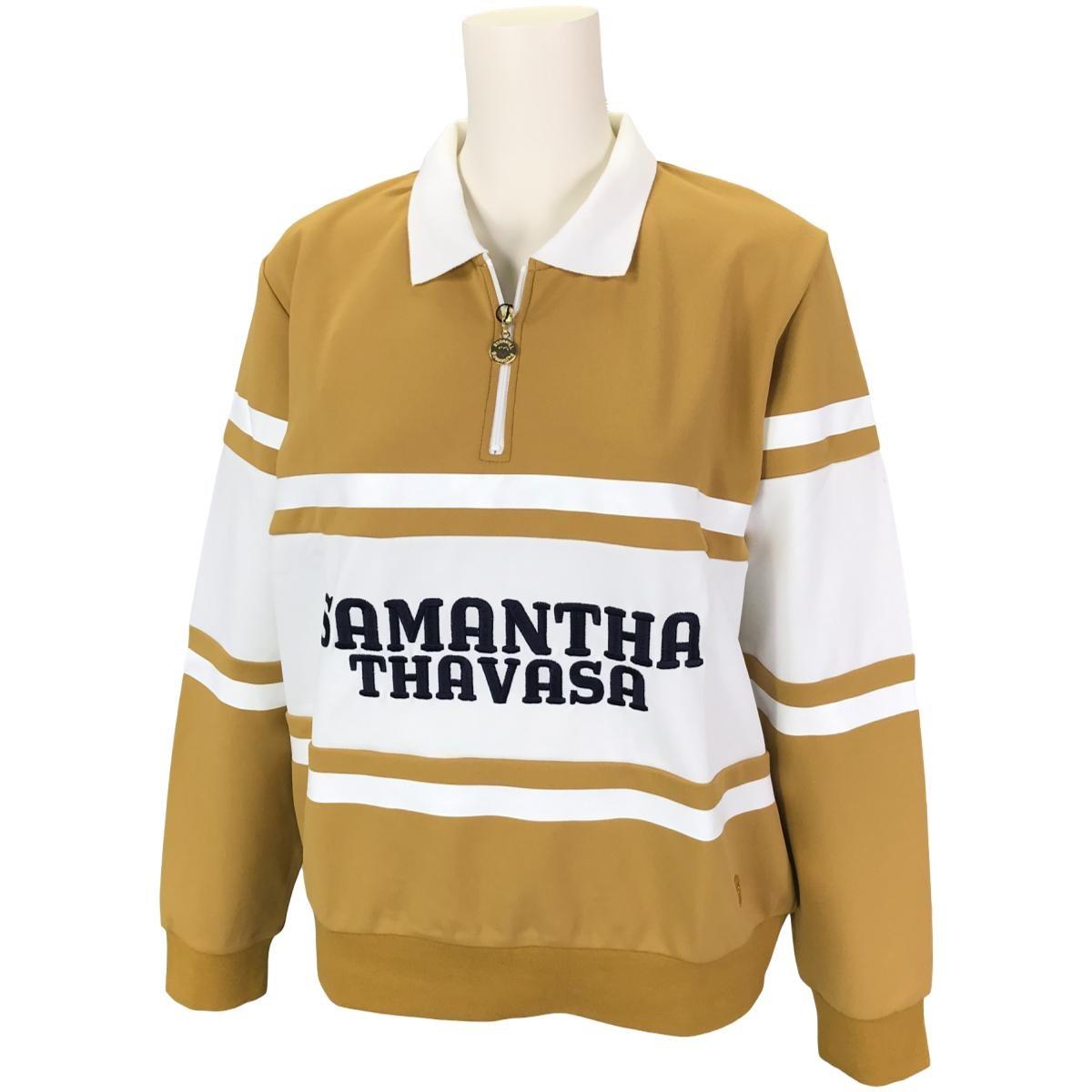 サマンサタバサ Samantha Thavasa UNDER25&No.7 ストレッチラガー長袖ポロシャツ 36 マスタード レディス