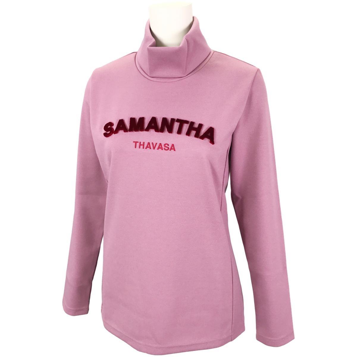 サマンサタバサ Samantha Thavasa UNDER25&No.7 フロントロゴ長袖ハイネックシャツ 36 ピンク レディス