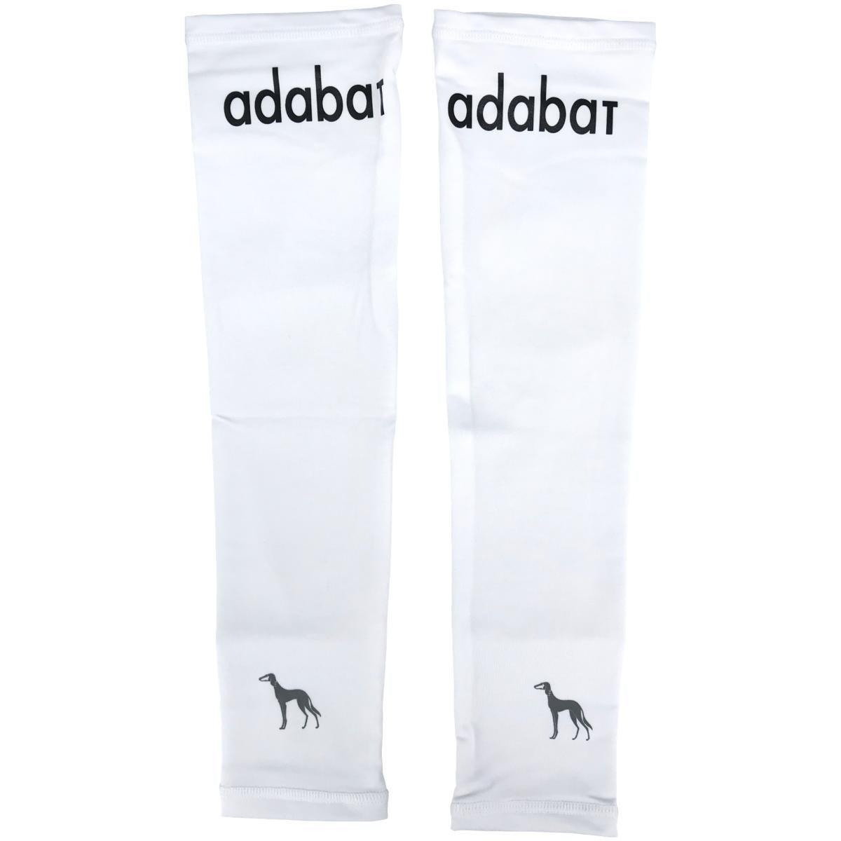 アダバット adabat 肩ロゴアームカバー ホワイト 90 フリー レディス