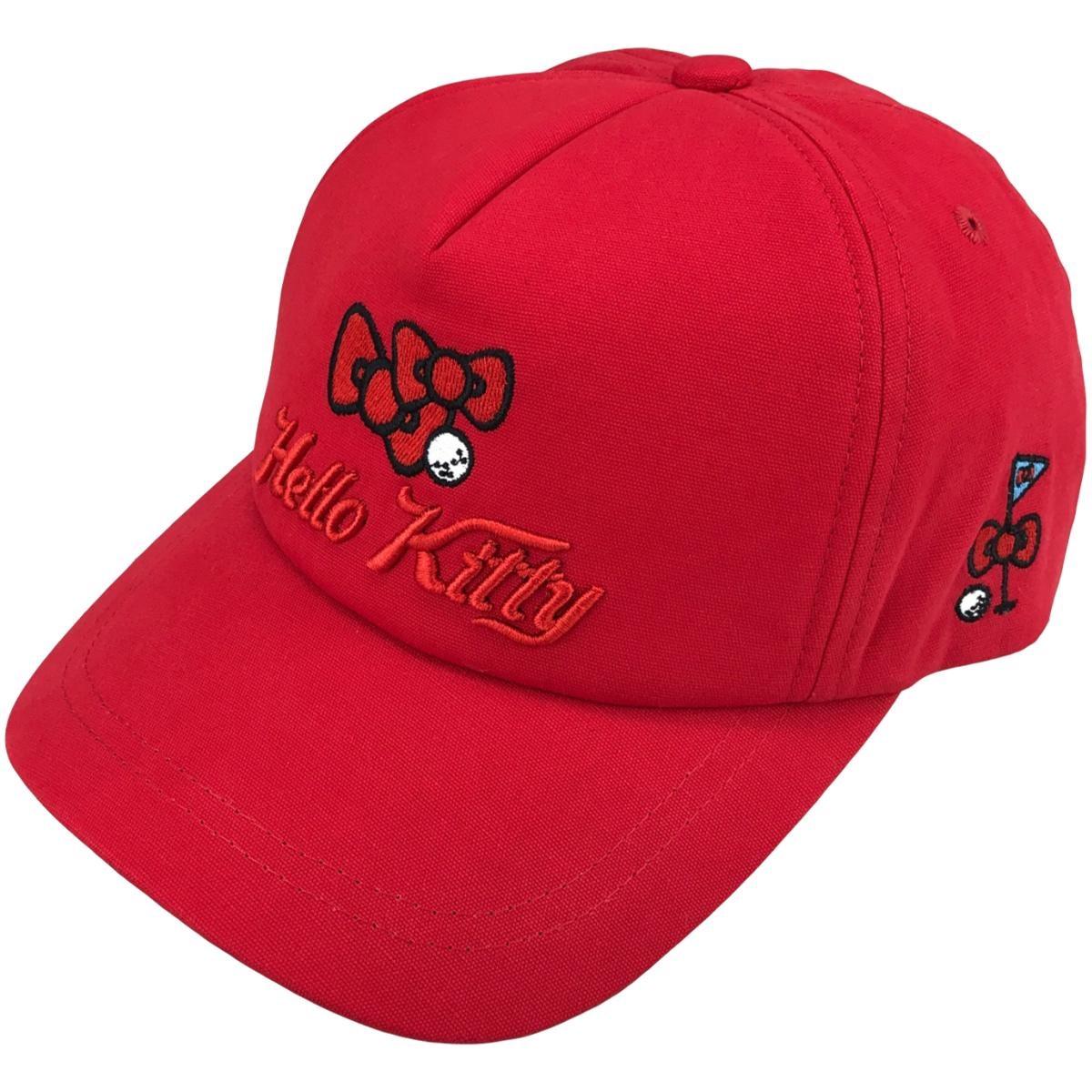 ナイガイ KITTY サンリオ キティ リボンロゴ キャップ フリー スカーレット 15 レディス