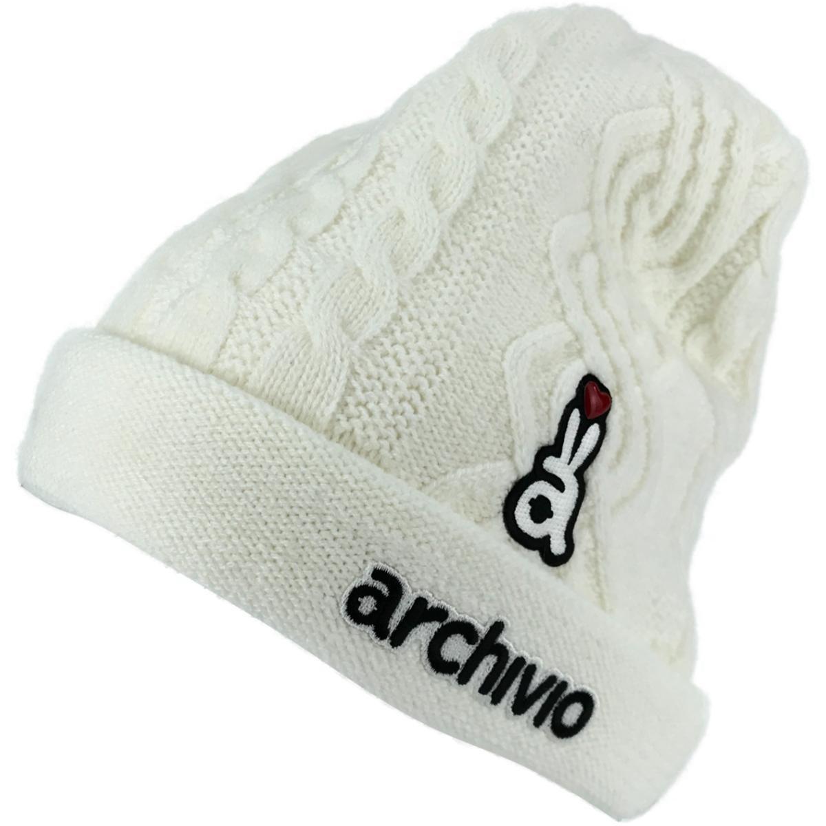 アルチビオ archivio ニットキャップ フリー ホワイト 090 レディス