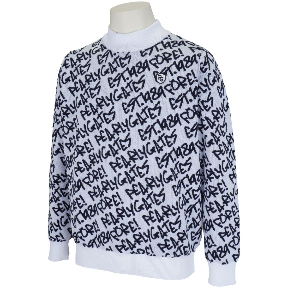 パーリーゲイツ カルセーナ らくがきロゴ 長袖セーター