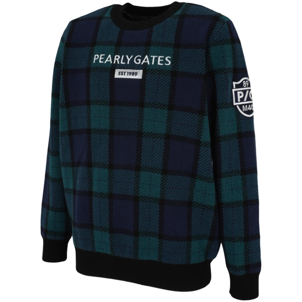 カシミヤブラックウォッチ×DIAPLEX 長袖セーター
