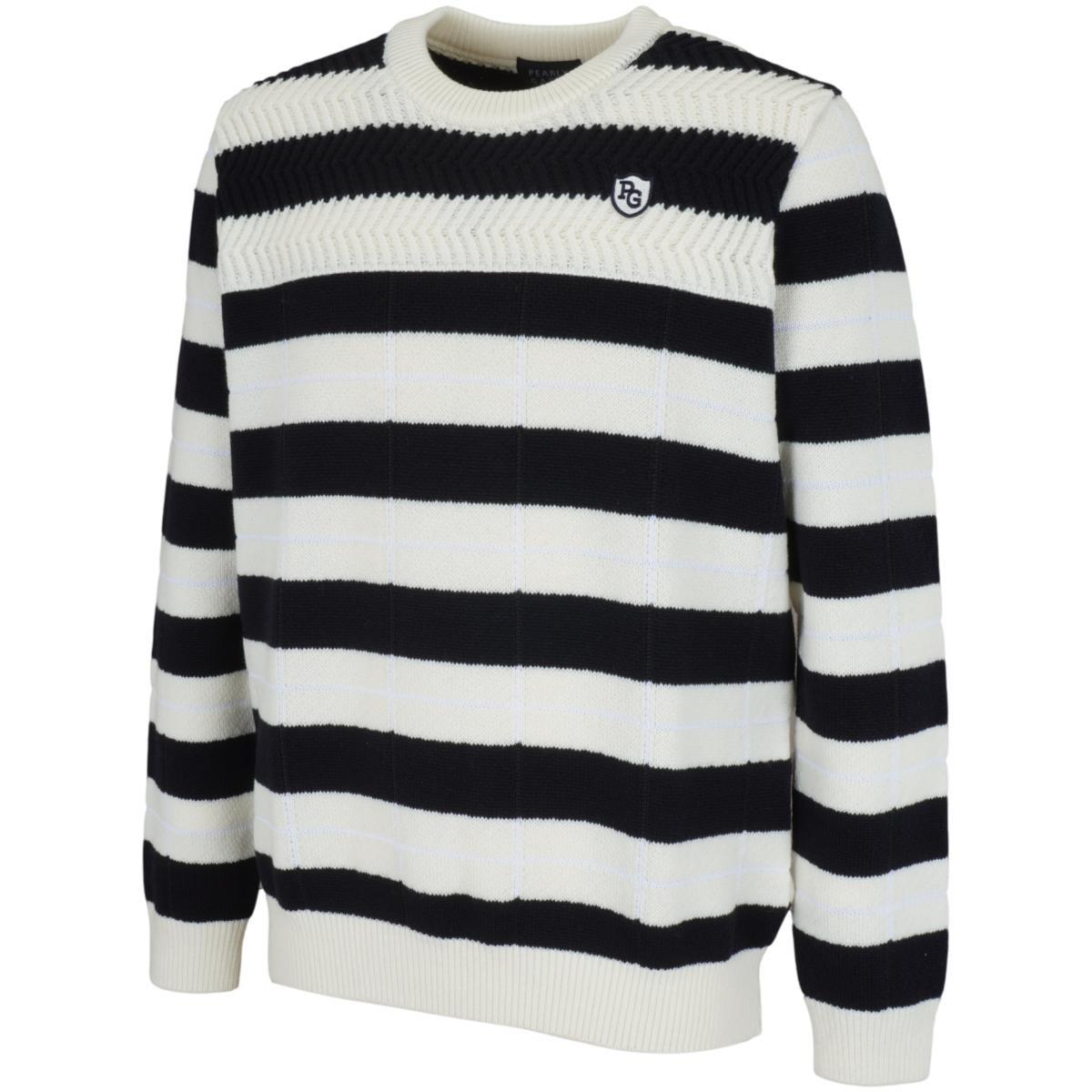 パーリーゲイツ アイリスボーダー/ブラックウォッチ 長袖セーター