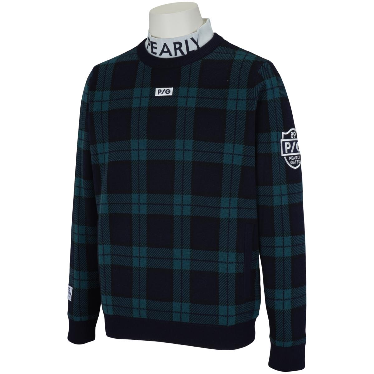 ツインニット×DIAPLEXらくがき/ブラックウォッチ 長袖セーター