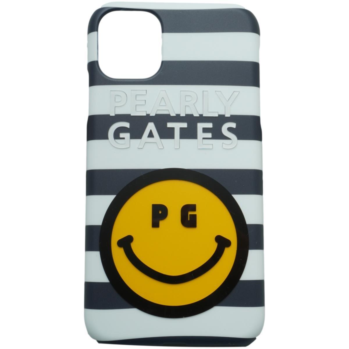 [2020年モデル] パーリーゲイツ PEARLY GATES ニコちゃん iPhone11対応ケース ネイビー/ホワイト 121 ゴルフ