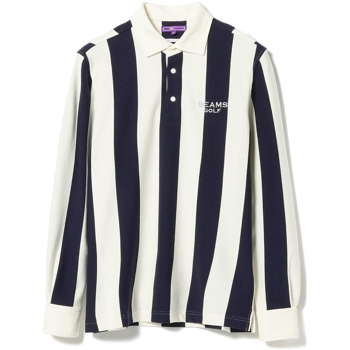 ビームスゴルフ BEAMS GOLF PURPLE LABEL BIG ストライプ 長袖 ポロシャツ