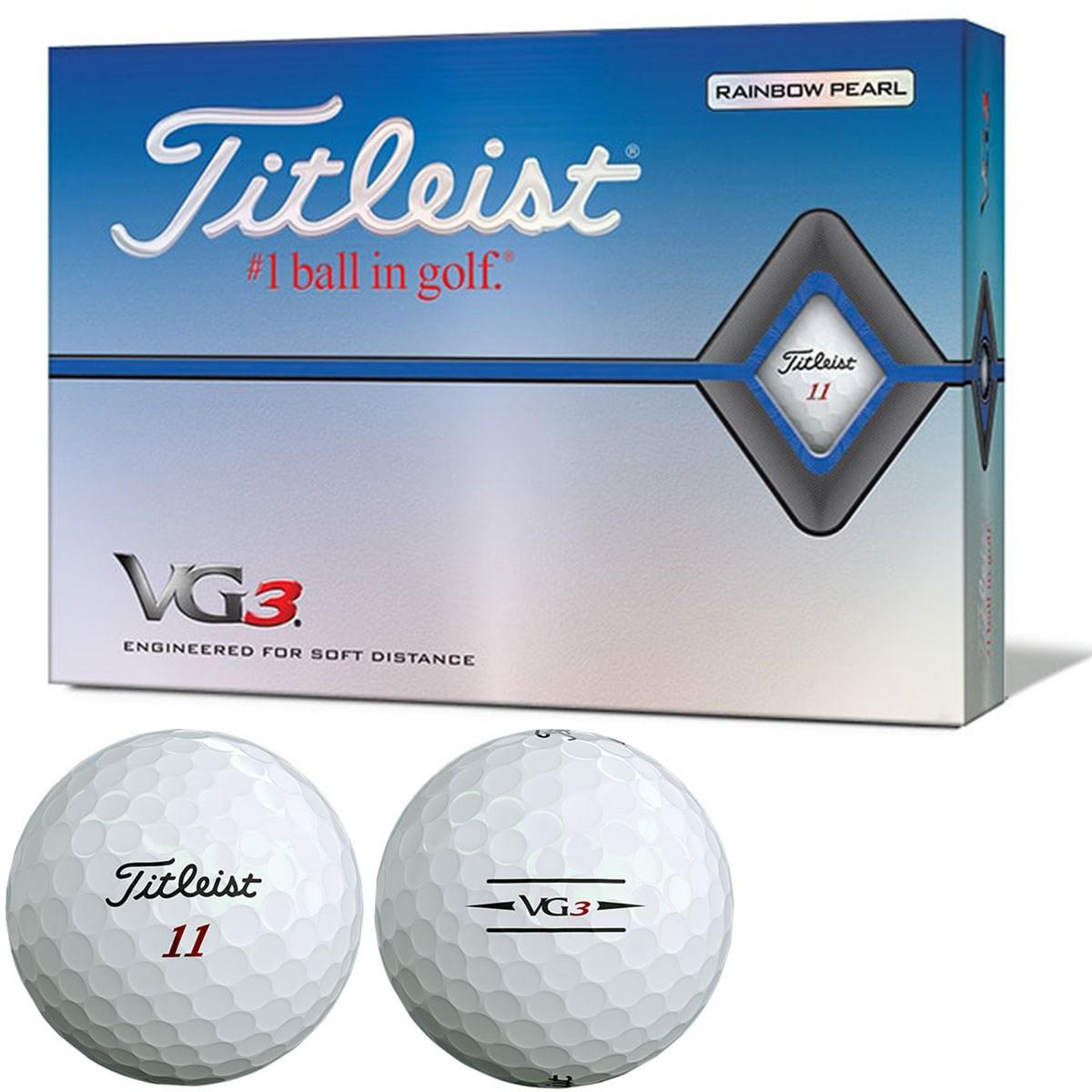 タイトリスト VG3 VG3ボール 2020年モデル 1ダース(12個入り) レインボーパール(ホワイト)