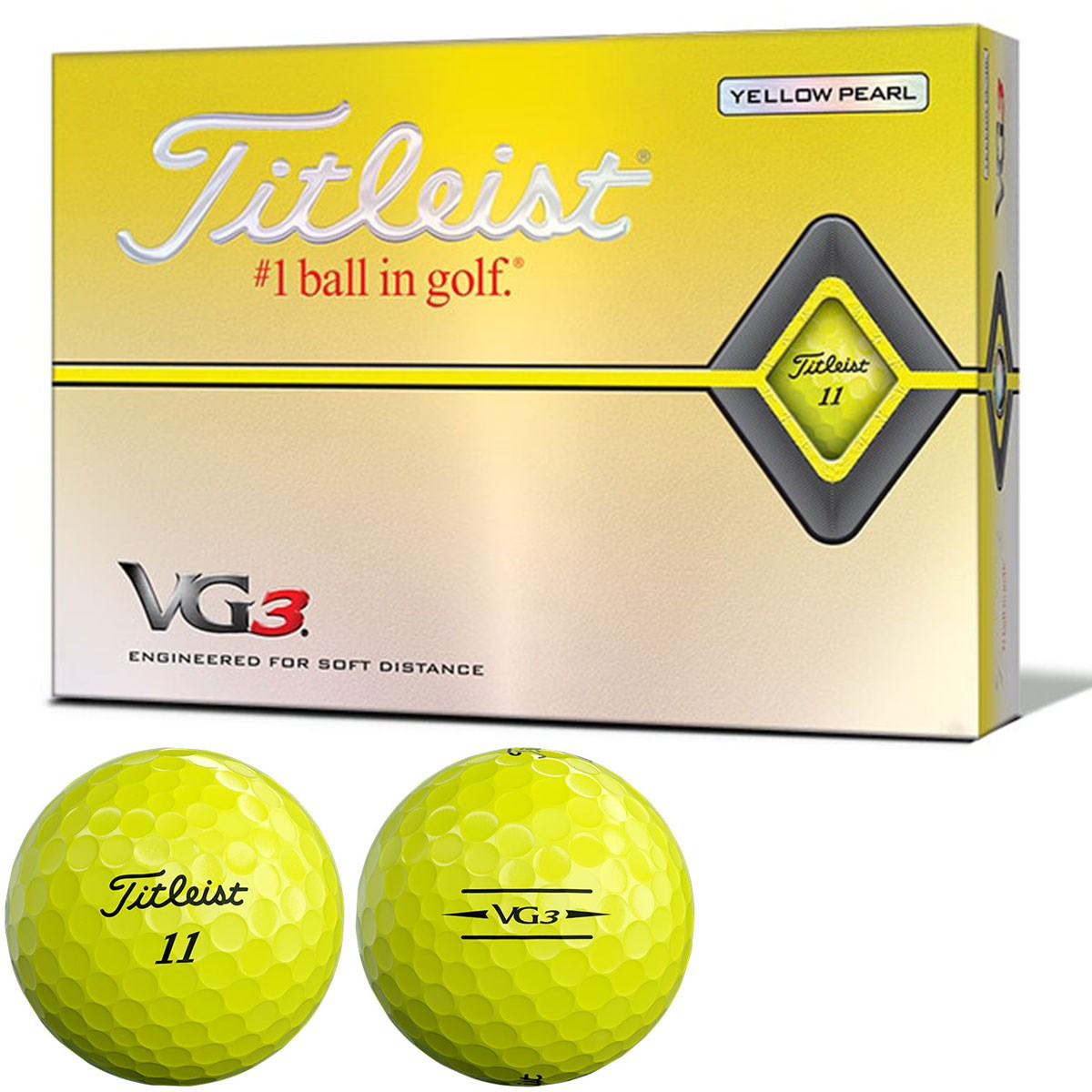 タイトリスト VG3 VG3ボール 2020年モデル 1ダース(12個入り) イエローパール