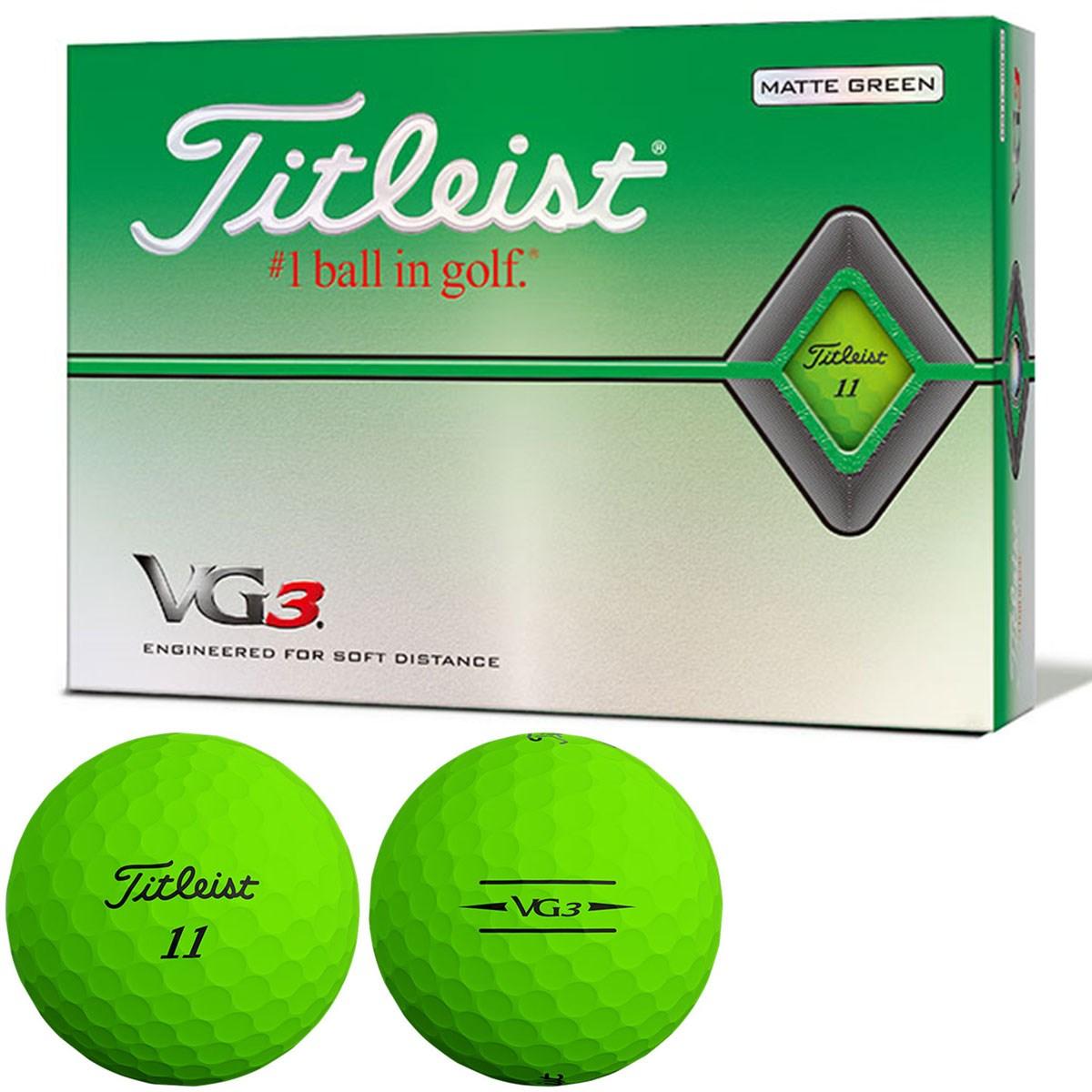 タイトリスト VG3 VG3ボール 2020年モデル 1ダース(12個入り) マットグリーン