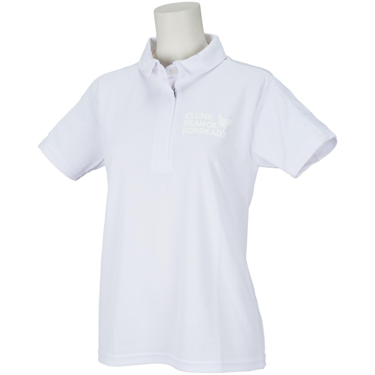 クランク Clunk 半袖ポロシャツ S ホワイト 010 レディス