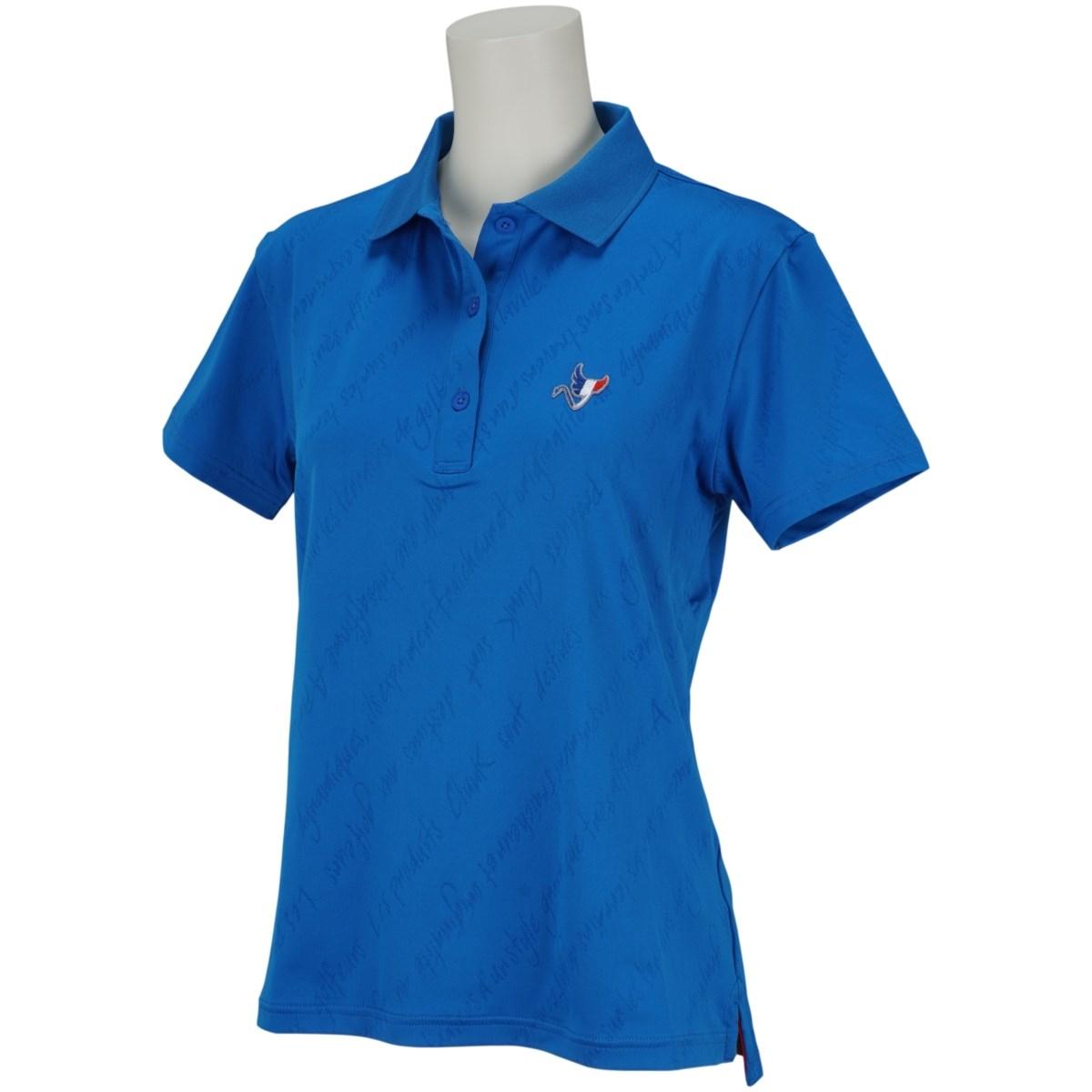 クランク Clunk 半袖ポロシャツ S ブルー 040 レディス