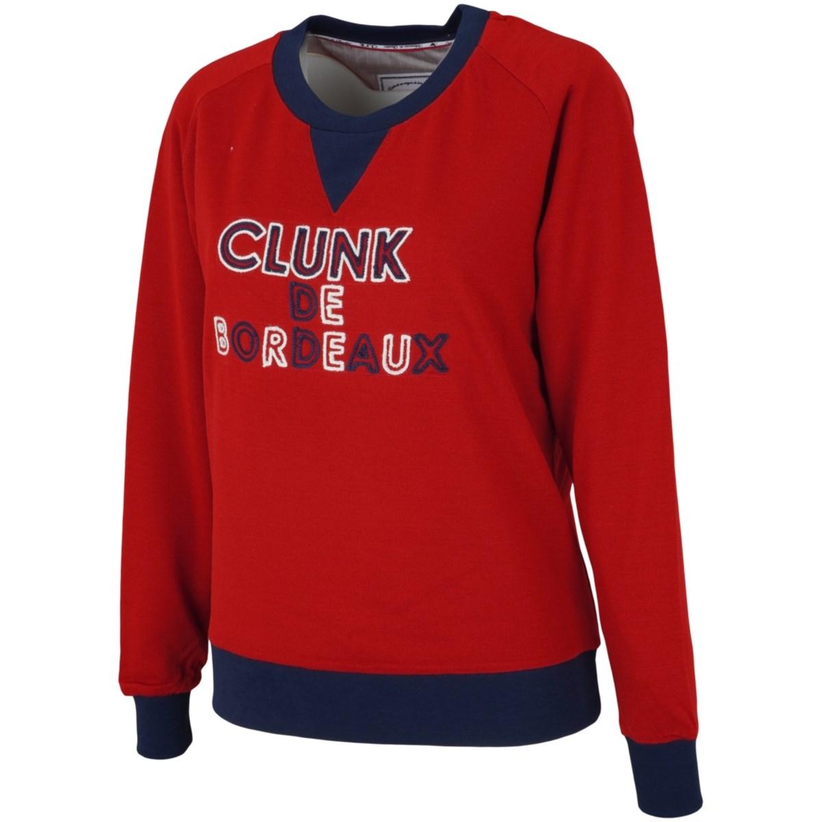 クランク Clunk ストレッチ刺繍セーター S レッド 070 レディス