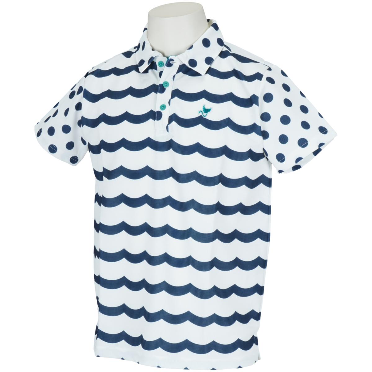 WAVEボーダー半袖ポロシャツ