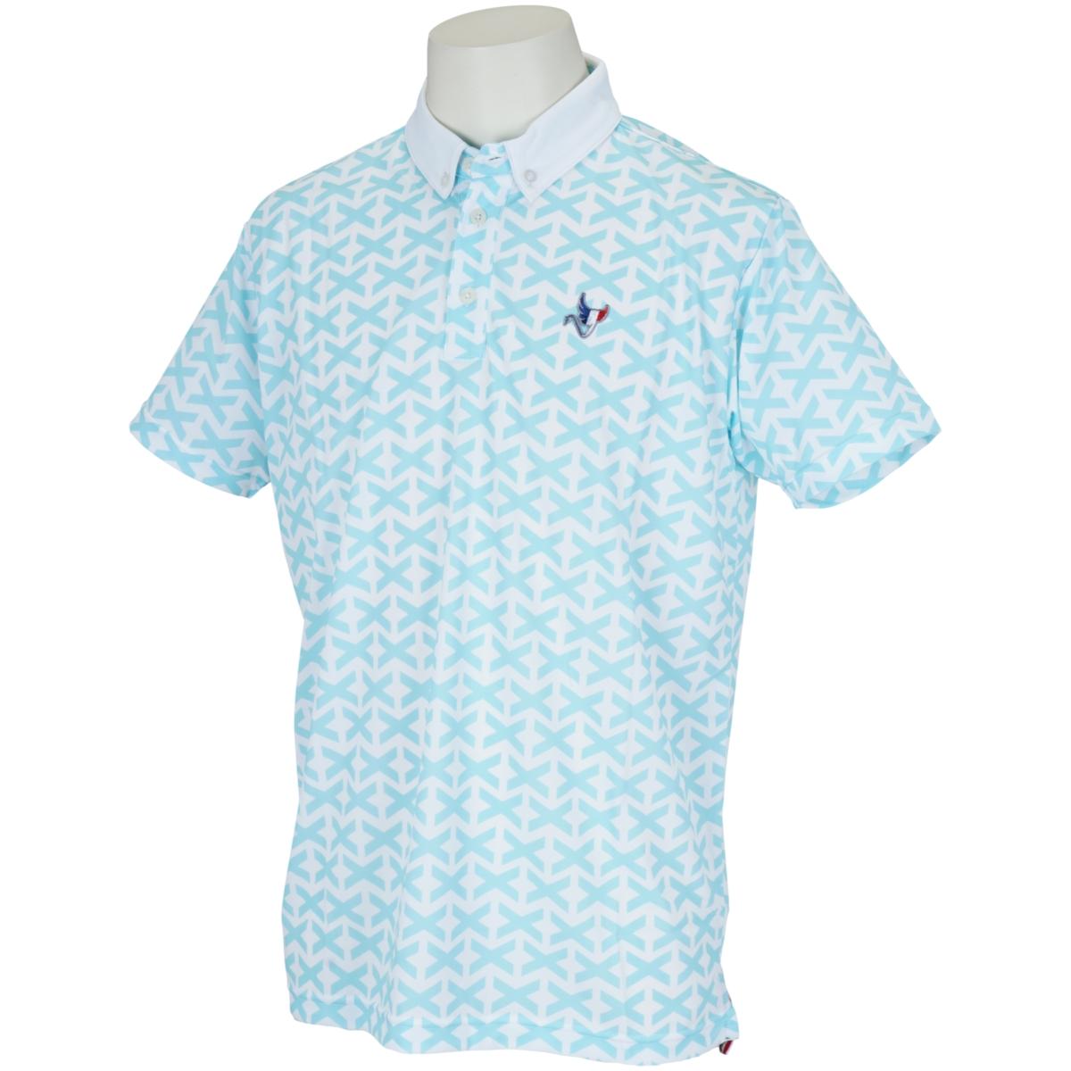 クロスジャガード半袖ポロシャツ