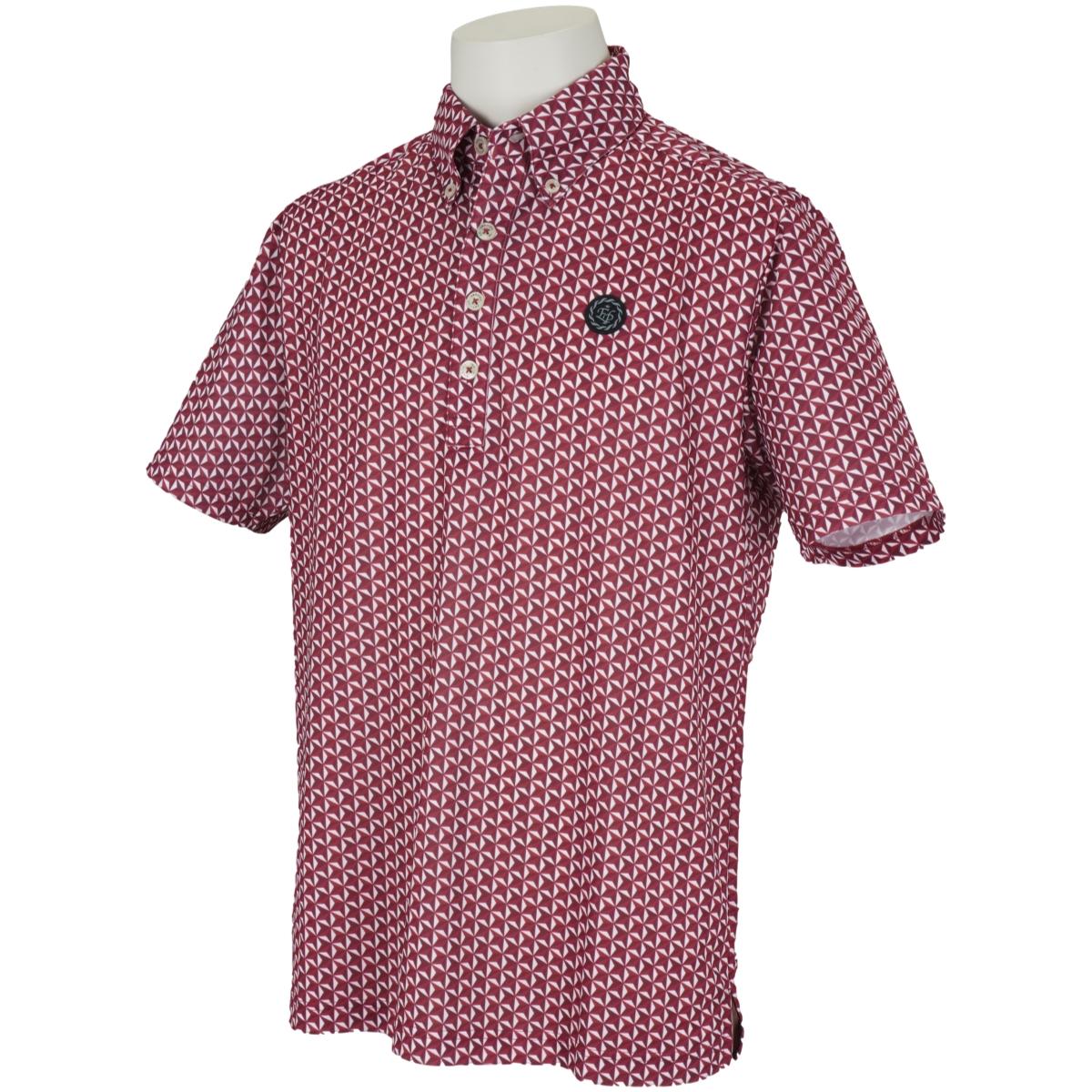 ジャガード半袖ポロシャツ