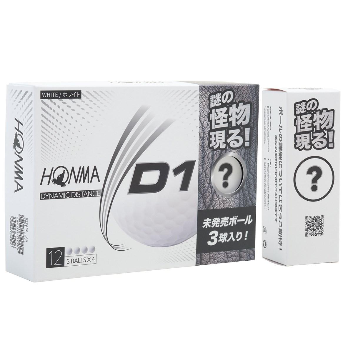 本間ゴルフ HONMA お試し限定パック D1 ボール 1ダース(12個入り) ホワイト