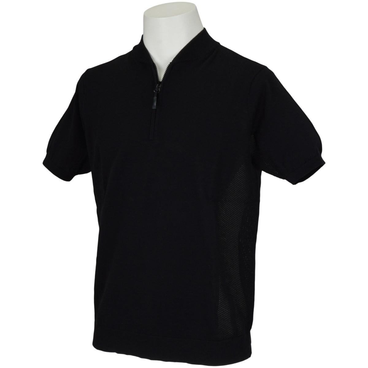 エネーレ 半袖ハーフジップポロシャツ