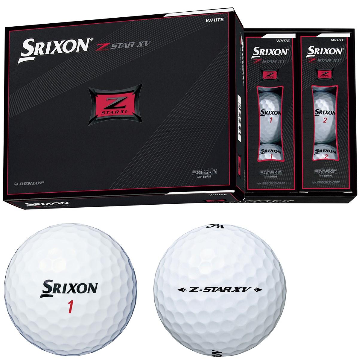 ダンロップ SRIXON Z-STAR XV ボール 1ダース(12個入り) ホワイト