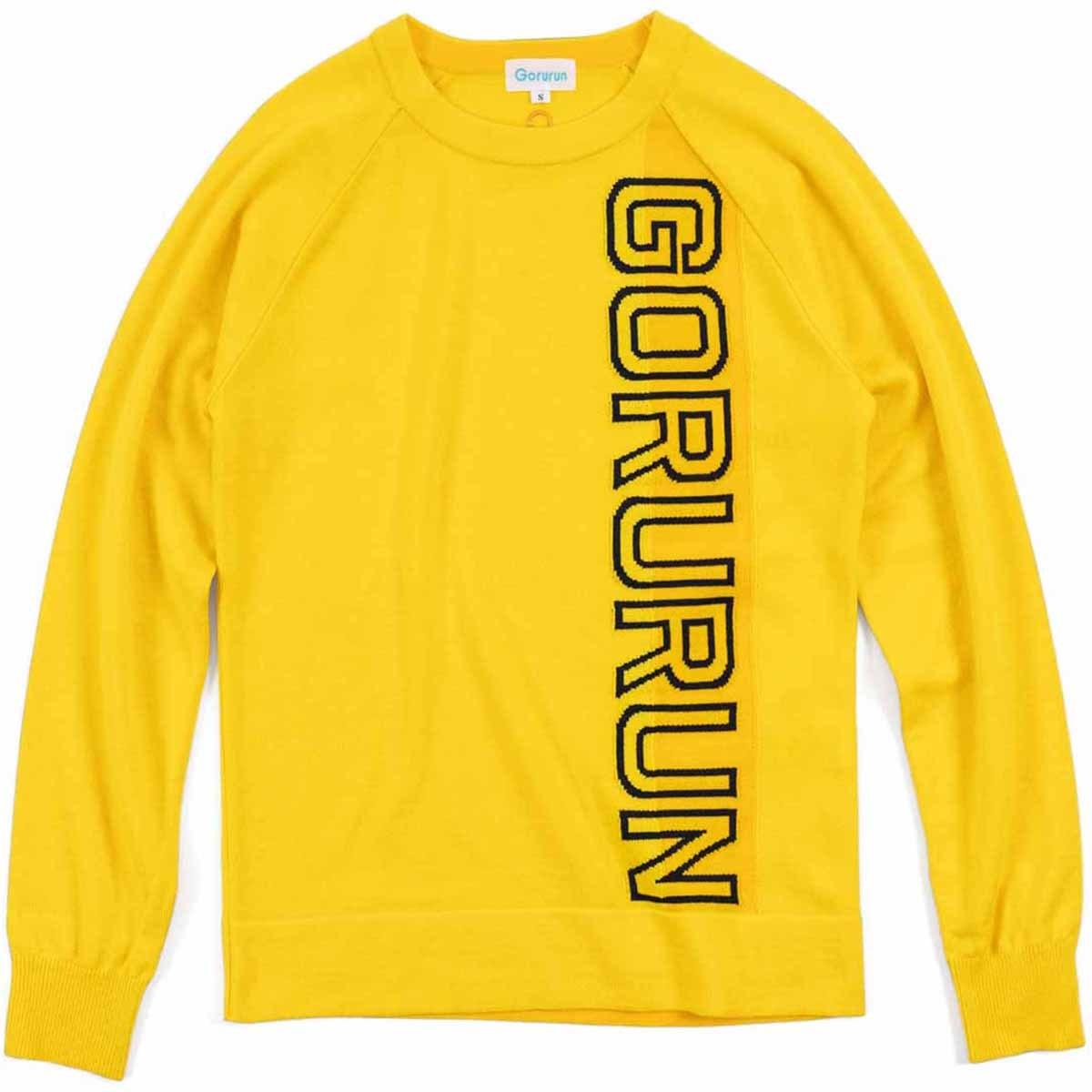 ごるらん バーチカルロゴ クルーネックセーター