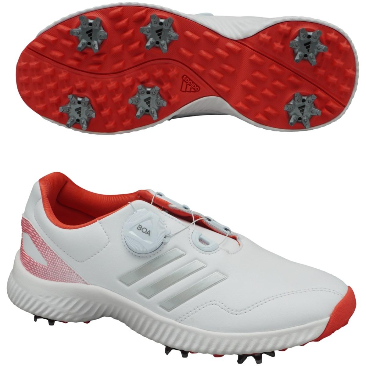 アディダス Adidas レスポンスバウンス ボア シューズ 24cm ランニングホワイト/シルバーメット/リアルコーラル レディス