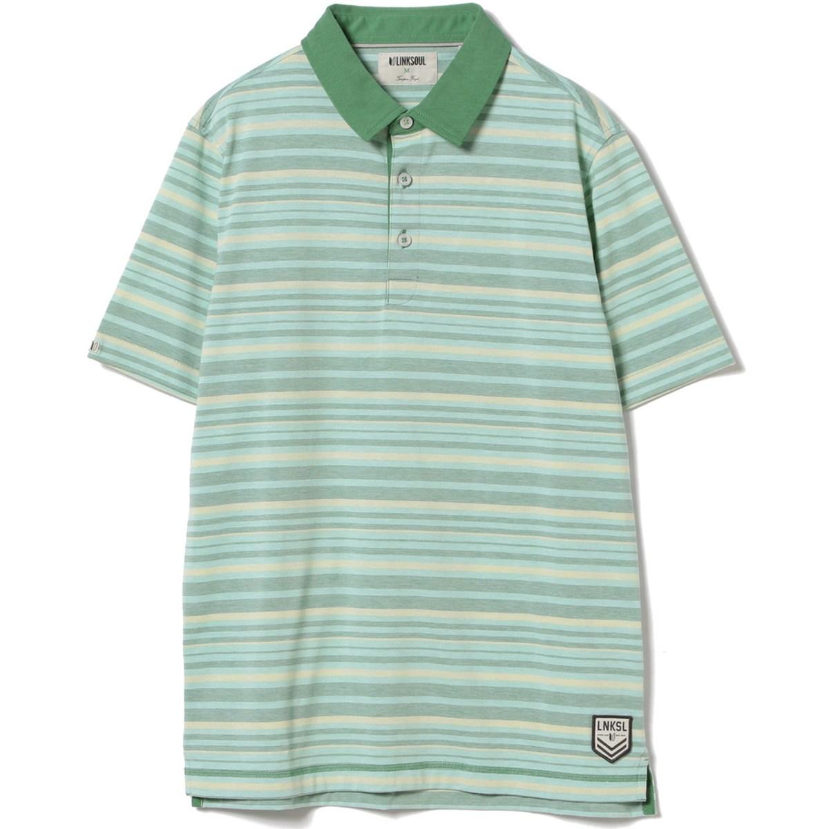 ビームスゴルフ LINKSOUL マルチストライプ 半袖ポロシャツ