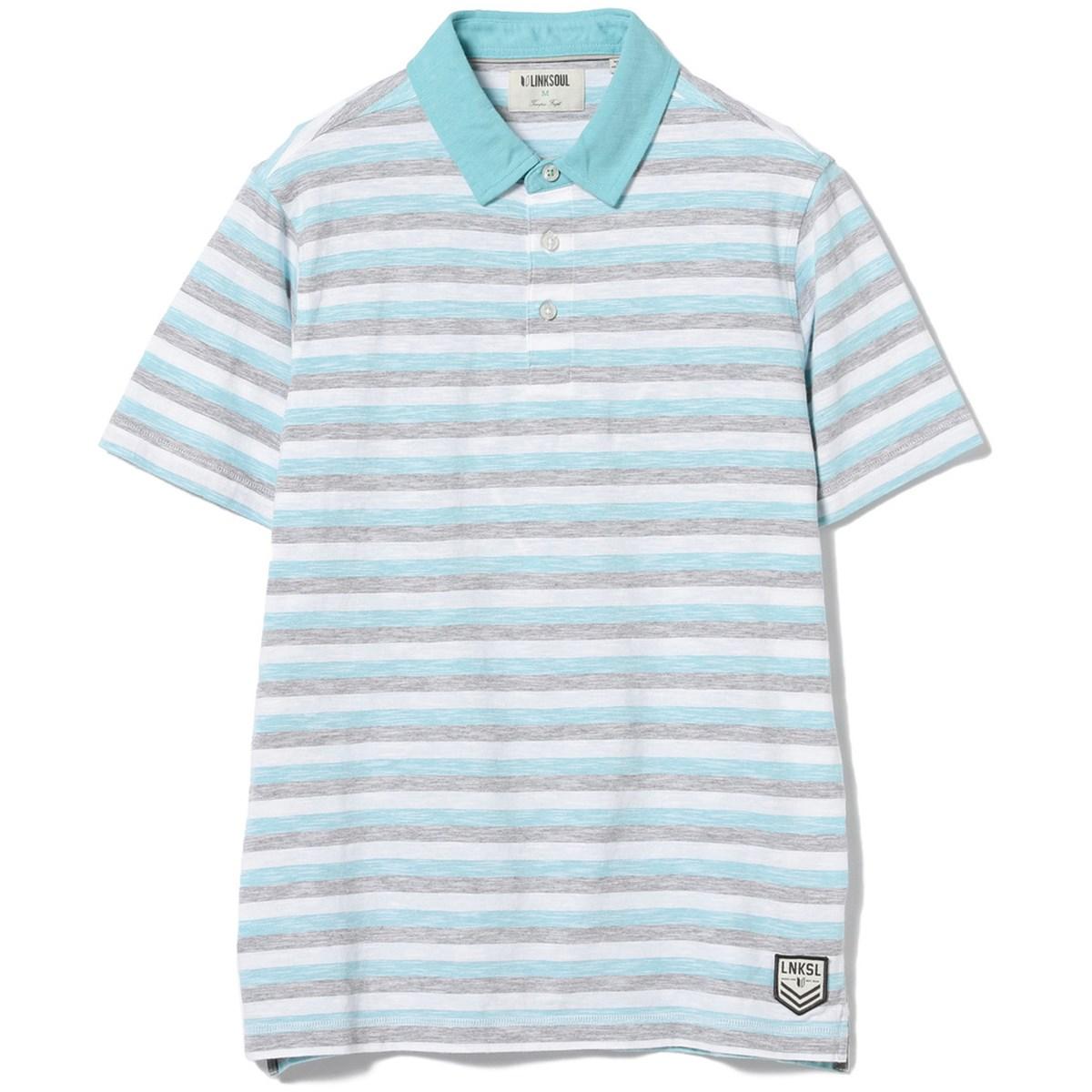 ビームスゴルフ LINKSOUL×BEAMS GOLF 別注 マルチボーダー 半袖ポロシャツ