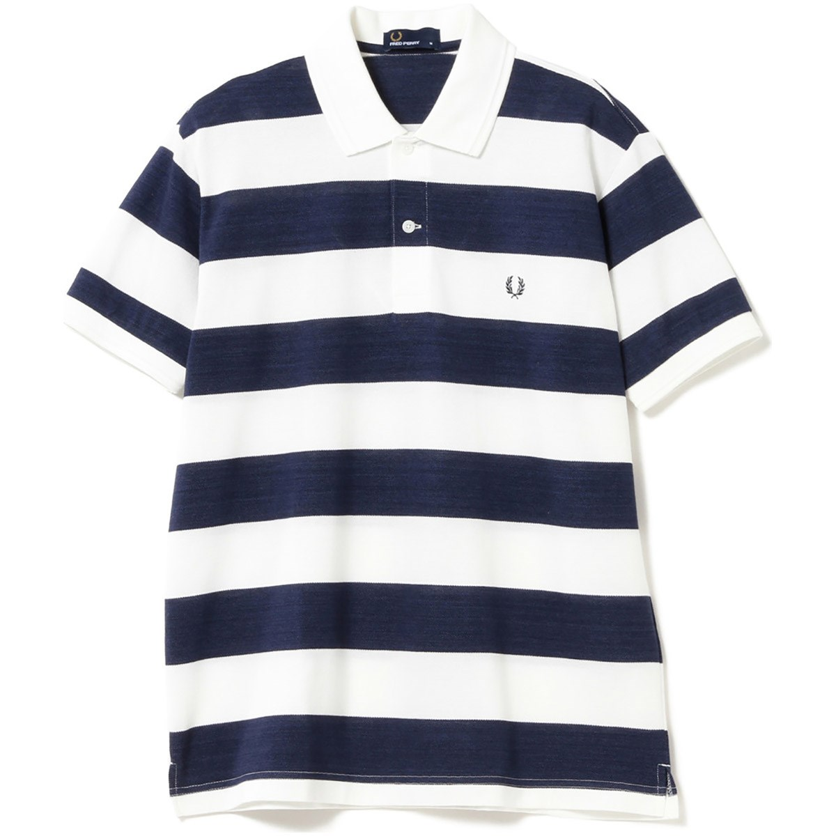 ビームスゴルフ FRED PERRY ×BEAMS GOLF 別注 ボーダー ポロシャツ