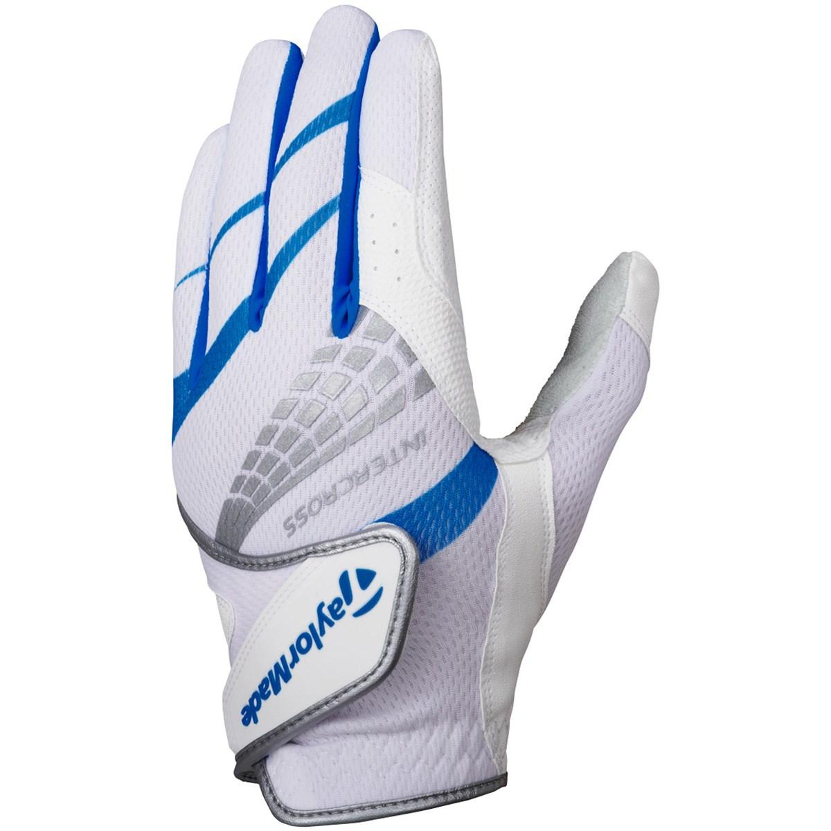 テーラーメイド Taylor Made インタークロス クール 3.0 グローブ 22cm 左手着用(右利き用) ホワイト/ブルー