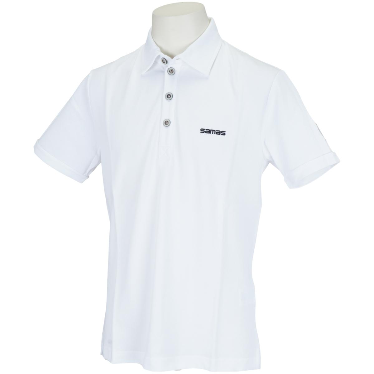 セミスプレッドカラー半袖ポロシャツ