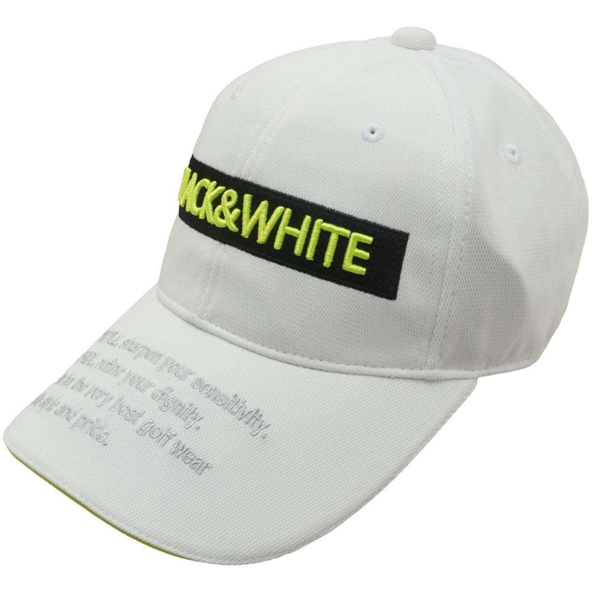 ブラック&ホワイト Black & White キャップ フリー ホワイト レディス