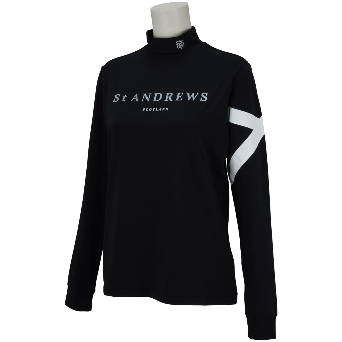 セント・アンドリュース St ANDREWS 長袖ハイネックインナーシャツ M ブラック 010 レディス