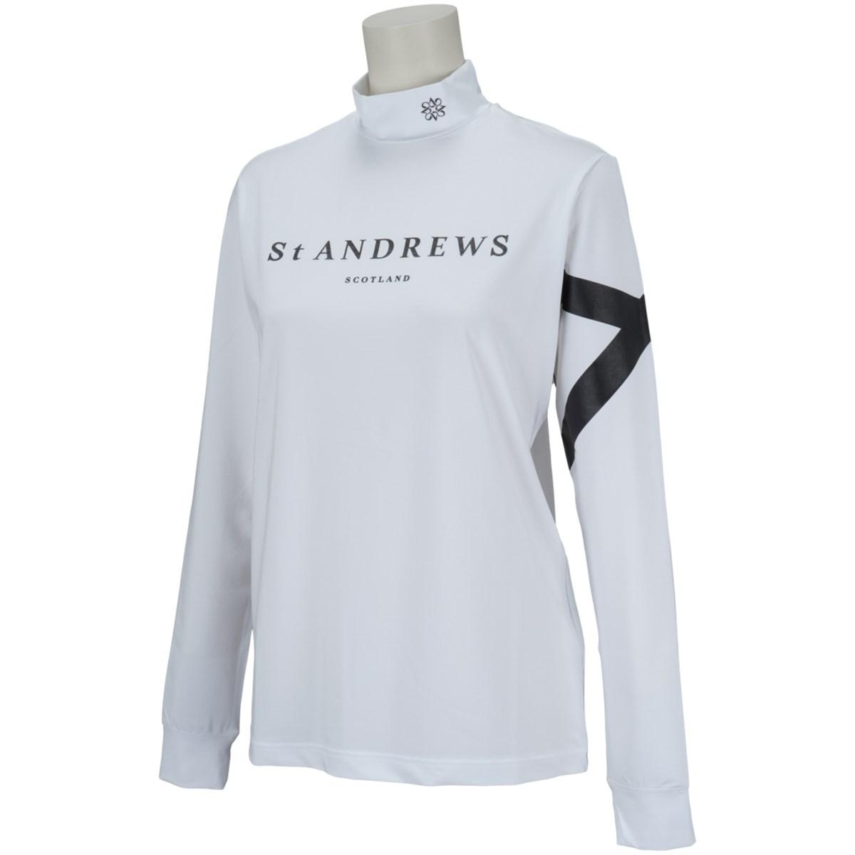 セント・アンドリュース St ANDREWS 長袖ハイネックインナーシャツ L ホワイト 030 レディス