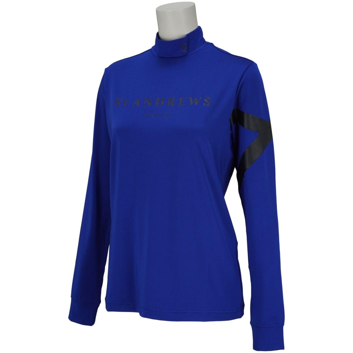 セント・アンドリュース St ANDREWS 長袖ハイネックインナーシャツ L ブルー 110 レディス