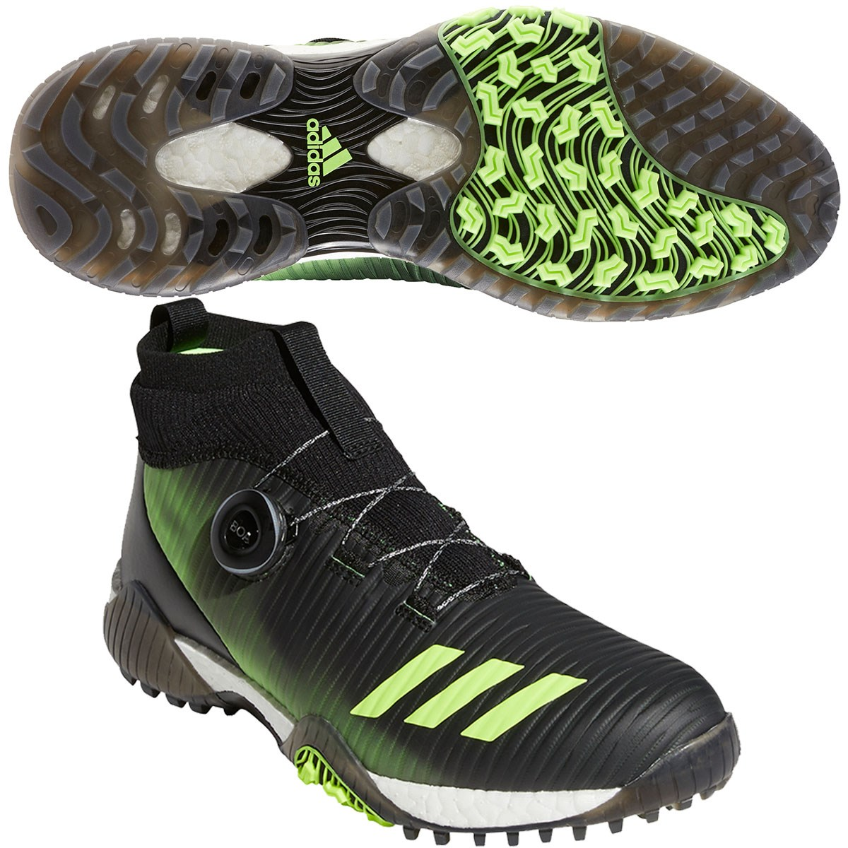 アディダス Adidas コードカオスボアミッドシューズ 22.5cm コアブラック/シグナルグリーン/フットウェアホワイト レディス