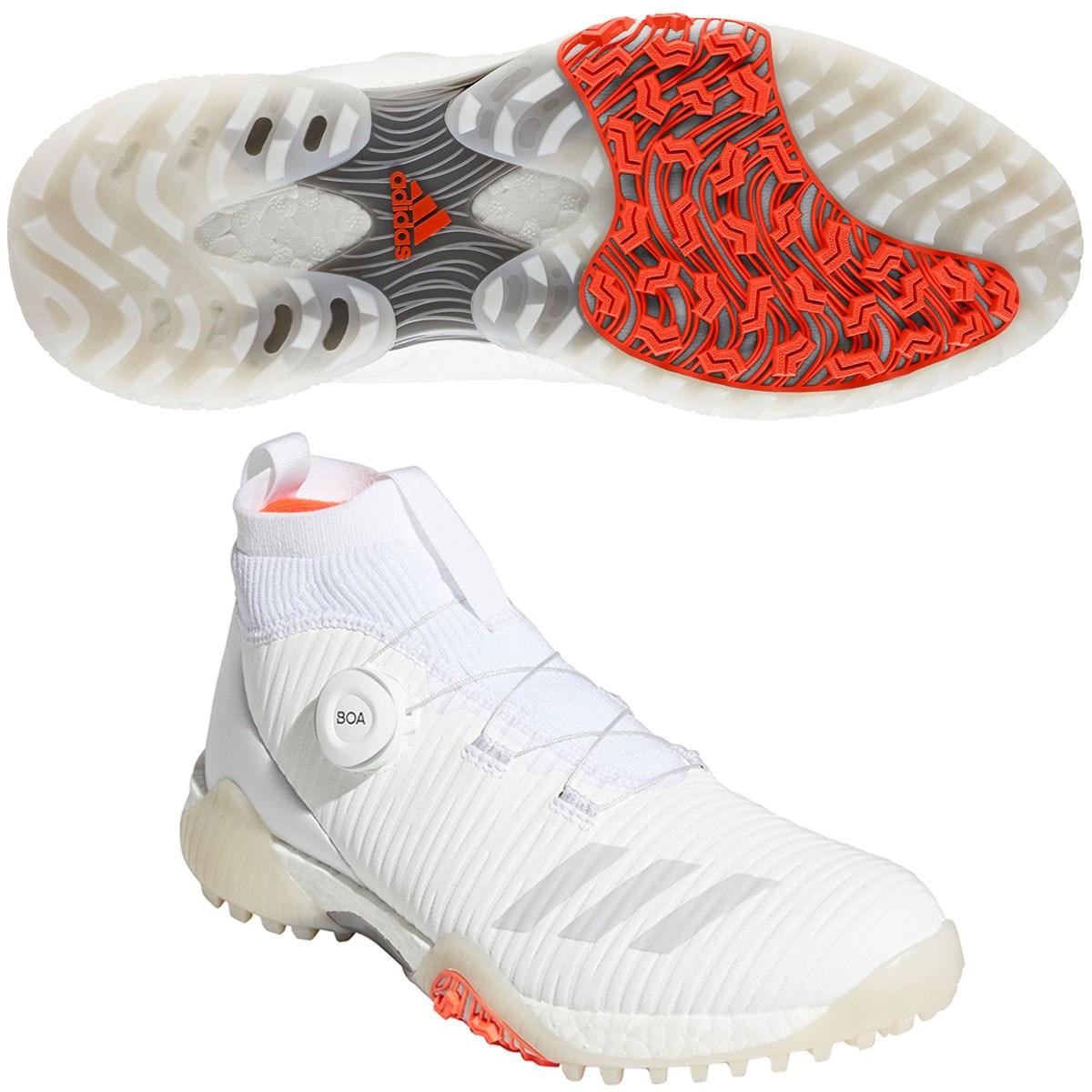 アディダス Adidas コードカオスボアミッドシューズ 24cm フットウェアホワイト/グレーワン/ソーラーレッド レディス